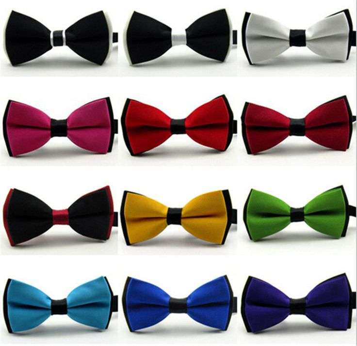 New 2016 Bow tie Fashion male bow ties for men married the groom color block decoration butterfly block color bow cravat bowknot