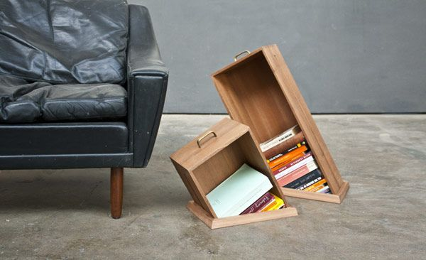Hole in the Floor shelves by Yael Mer and Shay Alkalay of Raw Edges    Interesting one; want to have one