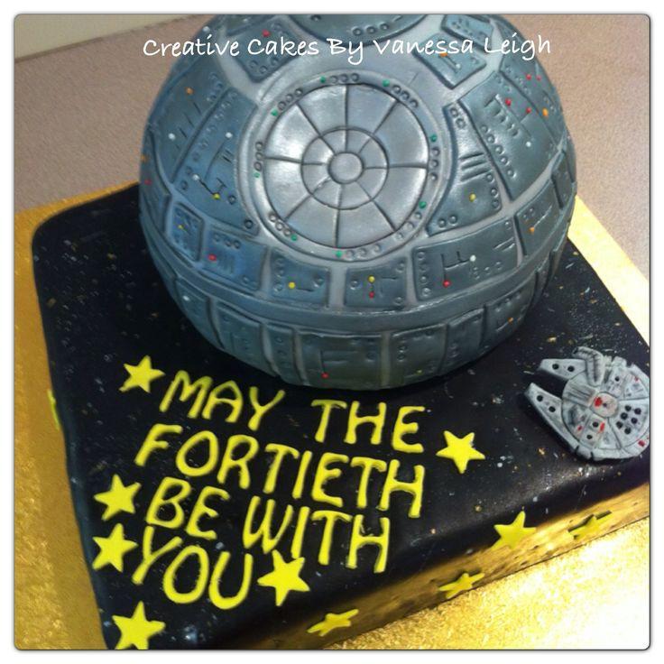 Novelty 40th birthday Star Wars cake