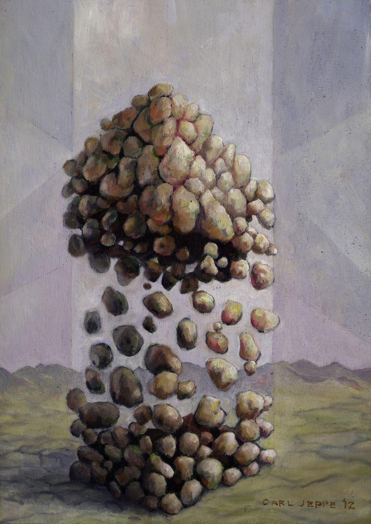Carl Jeppe, 2012, Stretch, Oil on board  www.art.co.za/carljeppe.html