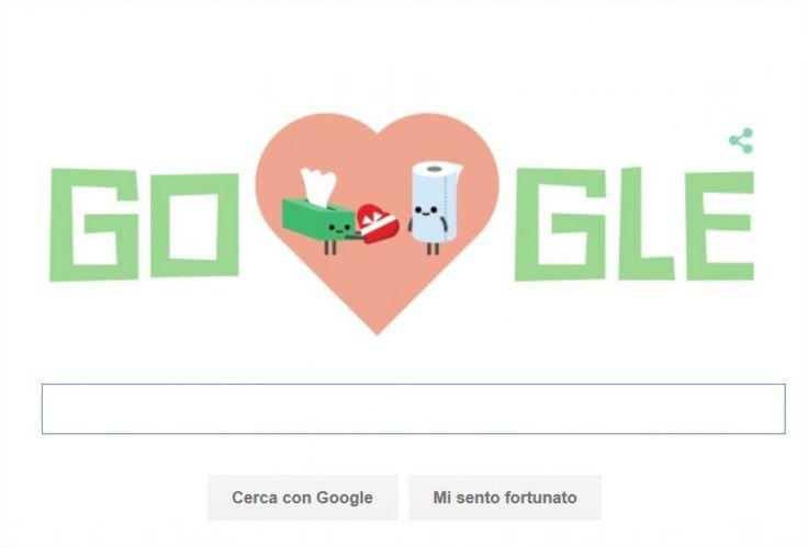 Festa di San Valentino, tutti gli amori nel doodle di Google