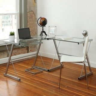 Shop for L-Shape Glass Corner Computer Desk. Get free shipping at Overstock.com - Your Online Furniture Outlet Store! Get 5% in rewards with Club O!