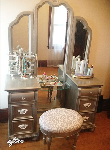 She's Creative: Satin Nickel Refinished Vanity How To