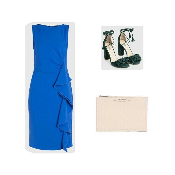 Look  cena romantica con abito e scarpe Marella, clucht Givenchy.