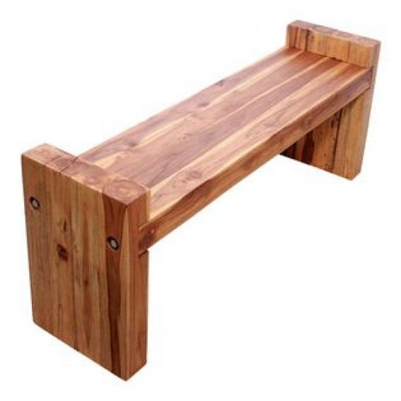 Kammika Farmed Teak Block Bench 48 X 12 X 19 Inch Ht Seat 16 Kd W Eco Friendly Oak Oil Our Sustainable Far Wood Bench Outdoor Wood Bench Rustic Furniture