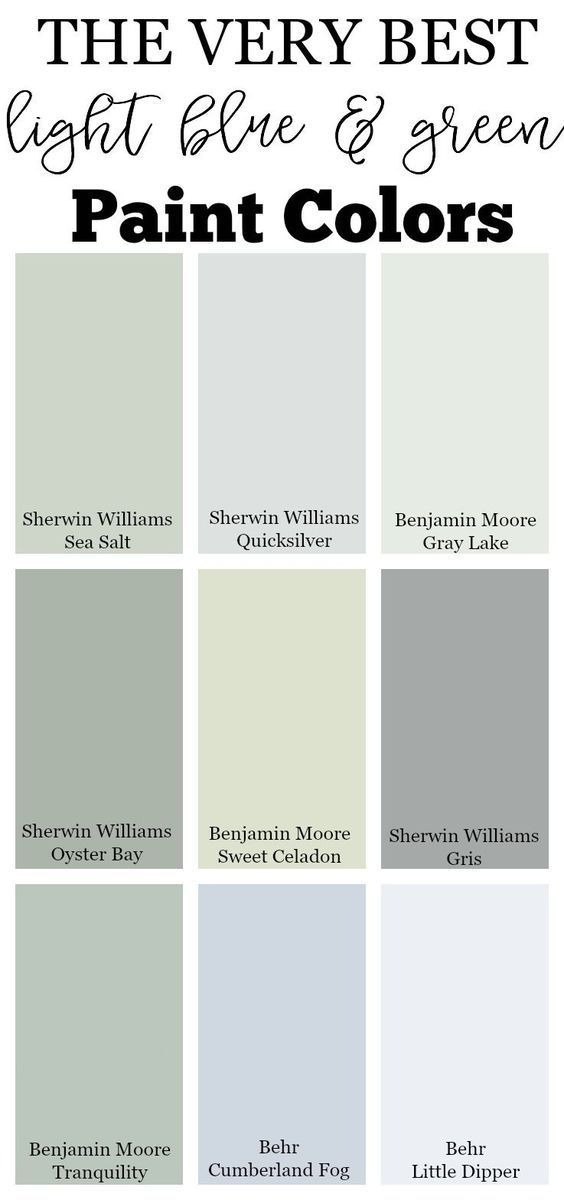 The Very Best Light Blue And Green Paint Colors