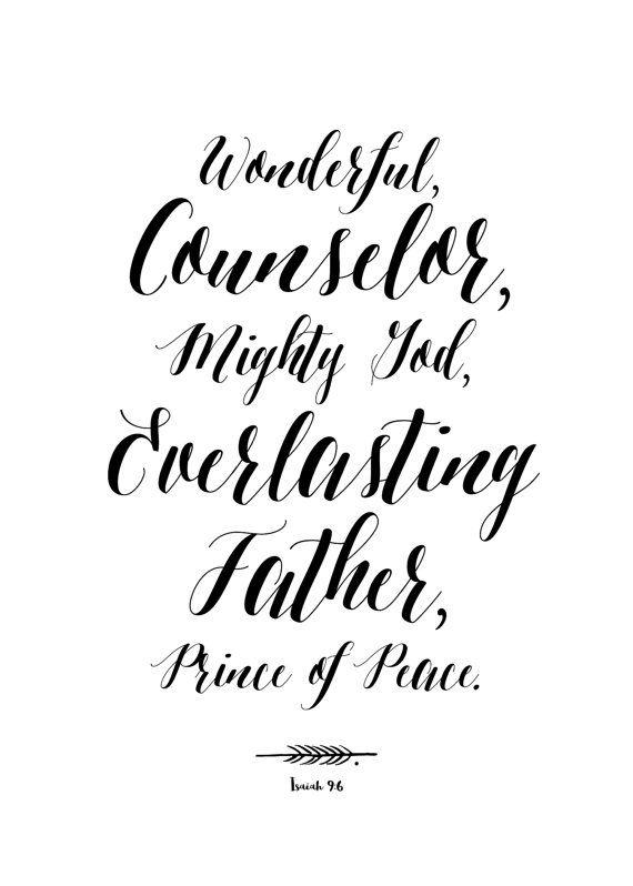 Wonderful Counselor Mighty God Everlasting by SweetAftonStudio