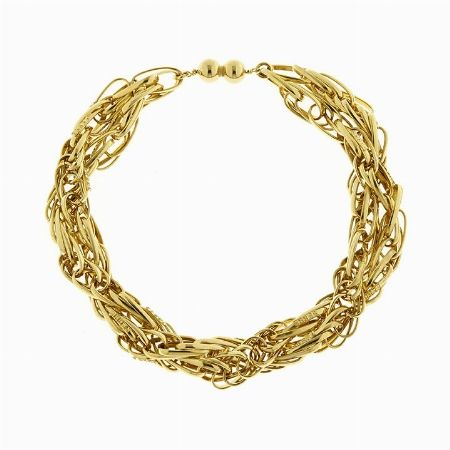 COLLANA IN METALLO DORATO, GIANFRANCO FERRE' - Lotto n. 49 - Asta 1# - Curio Casa d'Aste in Firenze #auction #bijoux #fashionjewelry #costumejewelry #bracelet #golden #ferre #gianfrancoferre #florence #moda #trend #anniottanta #eighties #italy #madeinitaly #trend #fashion