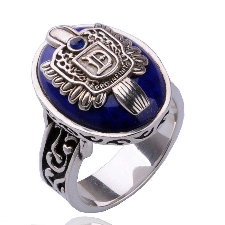 The Vampire Diaries 925 Sterling Silver Ring Damon Salvatore Brother Signet Vintage Man Rings Christmas birthday gift top