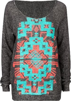 Loveeee: Full Tilt, Aztec Design, Aztec Prints, Screens Woman, Woman Sweatshirts, Navajo Screens, Tribal Prints, Women'S Sweatshirts, Aztec Sweaters