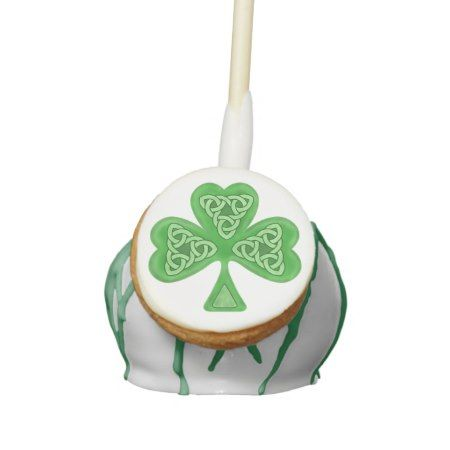 Irish knots Shamrock Saint Patrick's Day cake pop - click to get yours right now!