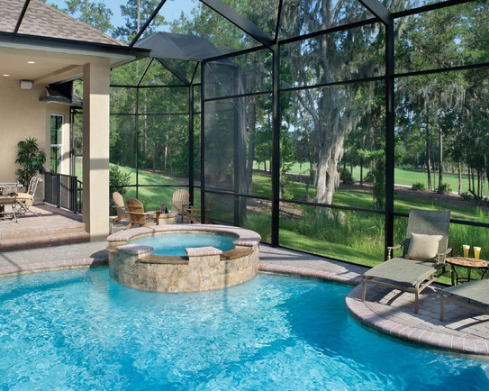 40 best images about pool on pinterest endless pools for Lanai garden designs
