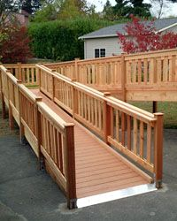 Amazing Attractive Wheelchair Ramp To The Deck. I Need To Check The Codes, But I
