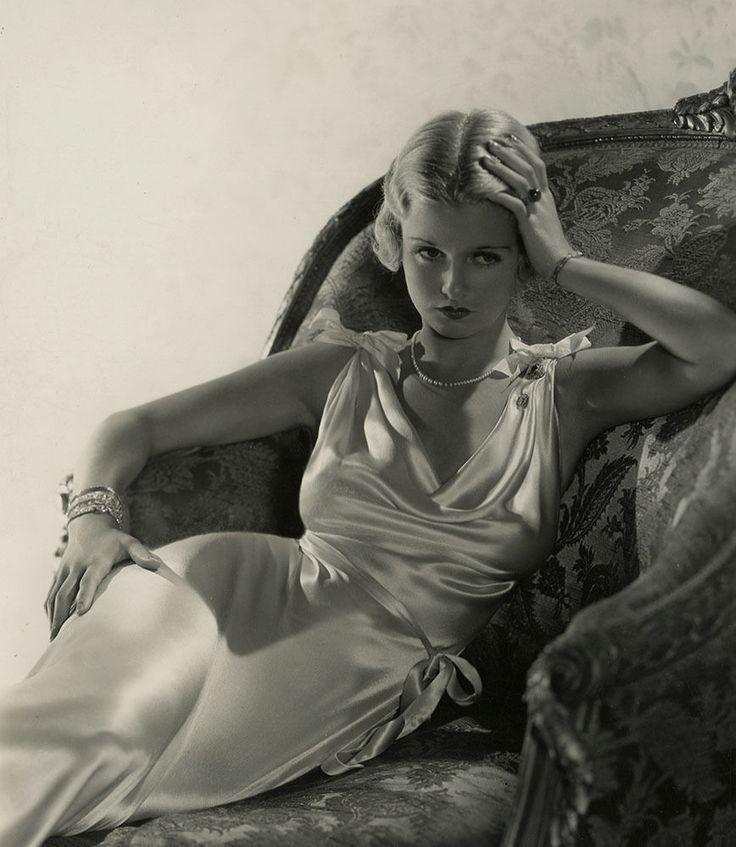 Moody Joan Bennett Vintage 1932 George Hurrell Art Deco Photograph Pin Up Vamp