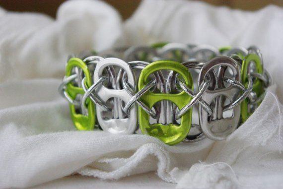 recycled pop tabs bracelet.: Poptab, Bracelets, Tab Bracelet, Jewelry, Craft Ideas