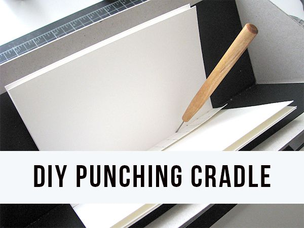 Punch accurate holes in your handmade books in this simple punching cradle.