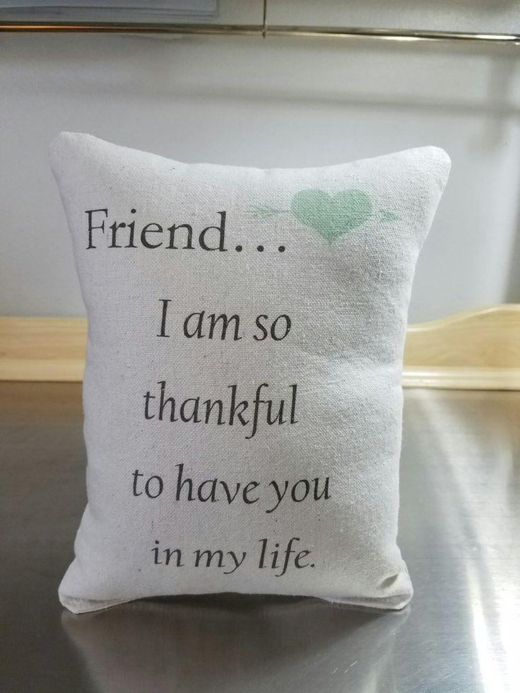 Friend birthday gift cotton throw pillow friendship keepsake pillow bff gifts