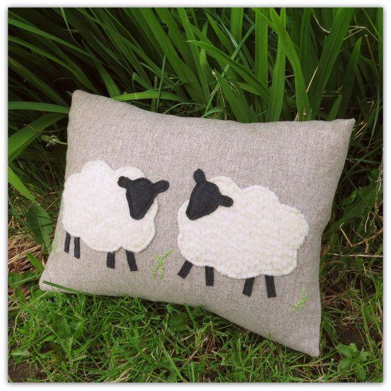 Sheep. A 39cm x 27cm woollen cushion. 14 by TheSherbetPatch