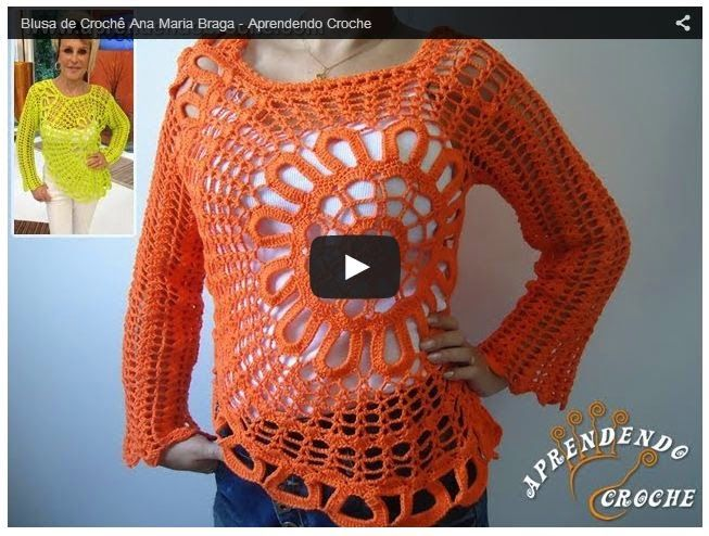 Cómo realizar blusa con diseño circular - explicación paso a paso en video | Todo crochet