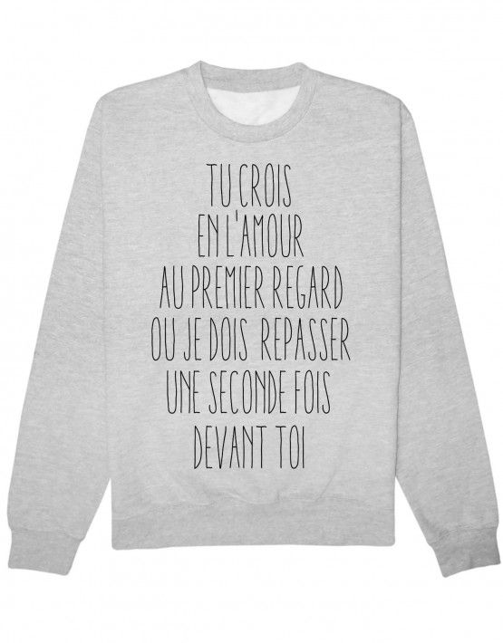 Pinterest Tshirtdef L'amour Sweat Au Premier Regard – Sweaters qwRqpF0