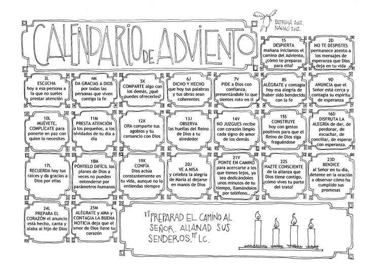 Hola a Todos, Paz y Bien Como todos los años mi queridísima Patri (Patricia Rojo) ha hecho su calendario de Adviento y, como todos los años, es una verdadera gozada. Yo creo que en las ciudades peq...