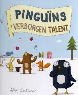 // Alex Latimer - Pinguïns verborgen talent // Iedereen is aan het oefenen voor de grote talentenjacht, maar Pingui͏̈n weet niet waar hij goed in is. Hij gaat maar dingen regelen voor het feest. Dat wordt opeens een spetterende show!  Vanaf ca. 4 jaar.