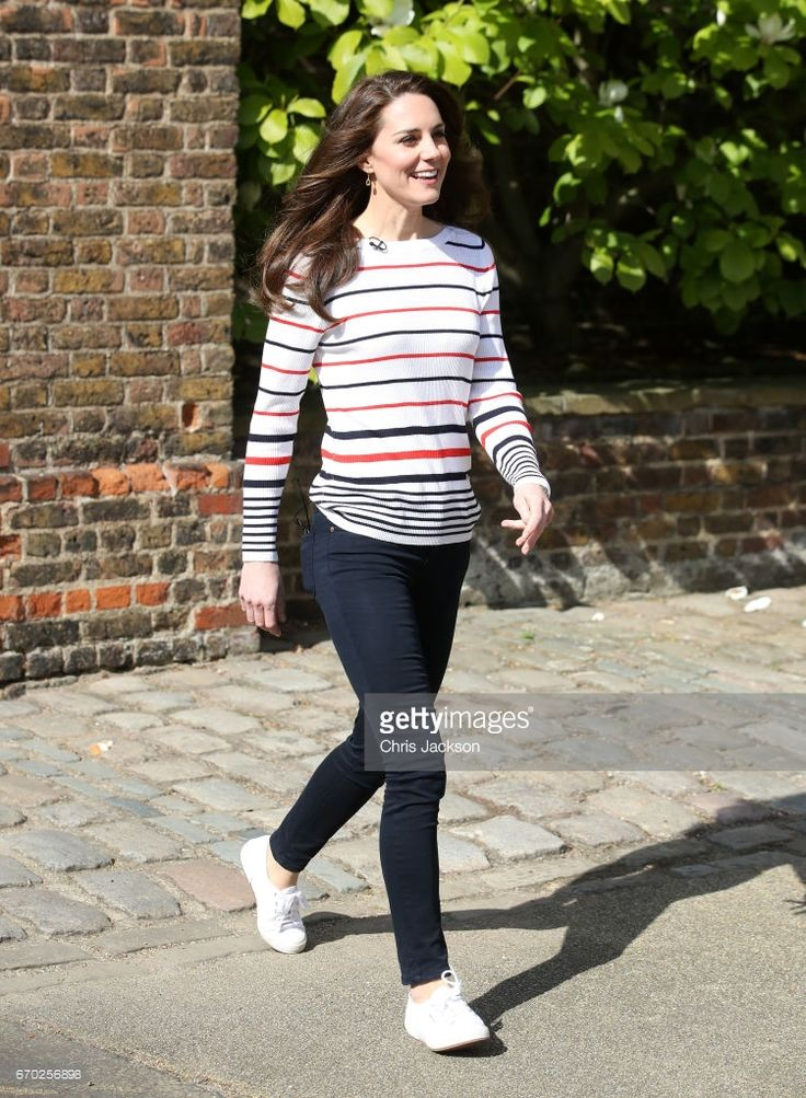 Catherine, Duchess of Cambridge hosts a reception for runners from Team Heads Together ahead of the 2017 Virgin Money London Marathon, at Kensington Palace on April 19, 2017 in London, England. Heads Together is spearheaded by the Duke and Duchess of Cambridge and Prince Harry, in partnership with eight leading mental health charities that are tackling stigma, raising awareness, and providing vital help for people with mental health problems.