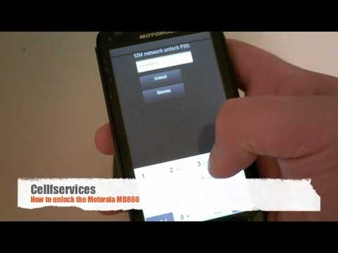 How to unlock Motorola Atrix 4G with unlock code