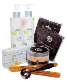 Bring your indulgence home and prep for the perfect staycation with this pampering gift set from Talbott Teas and Juice Beauty.