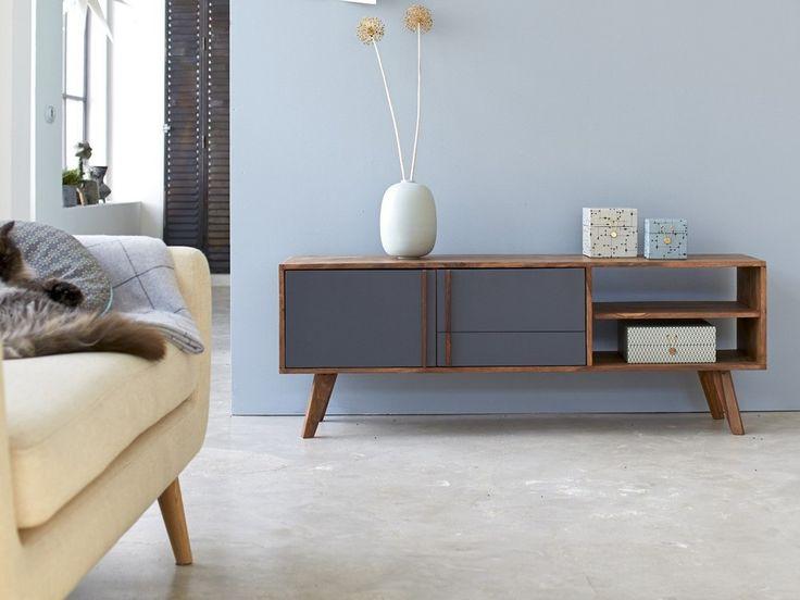 meuble tv en palissandre 150 niels - Meuble Tv Vintage Andersen