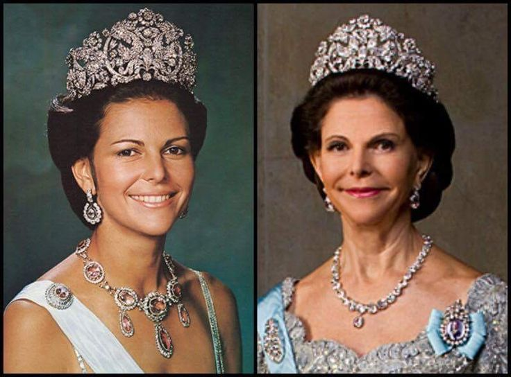 Queen Silvia : then and now