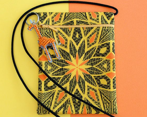 Phone Pouch  Cross Body Purse  Small Crossbody by africaohafrica