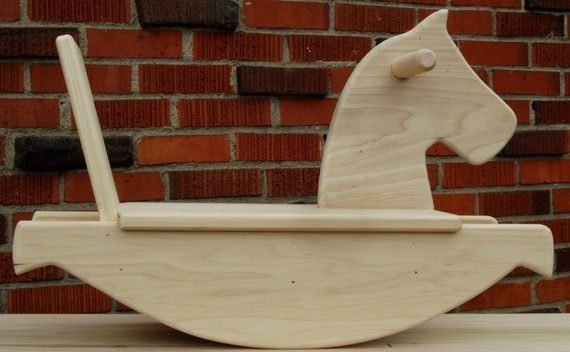 Rocking Horse wooden toy kids toy safe toy by littlesaplingtoys, $70.00