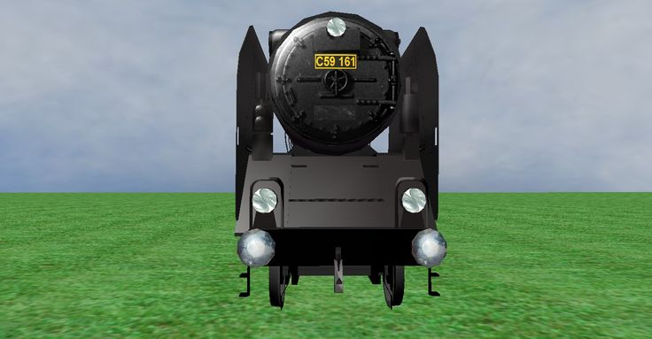 JNR C59 steam loco frontview