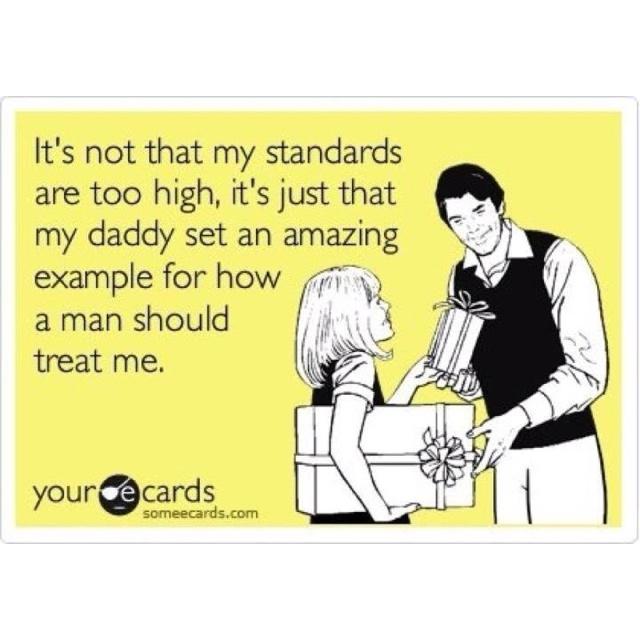 Always a daddy's girl.