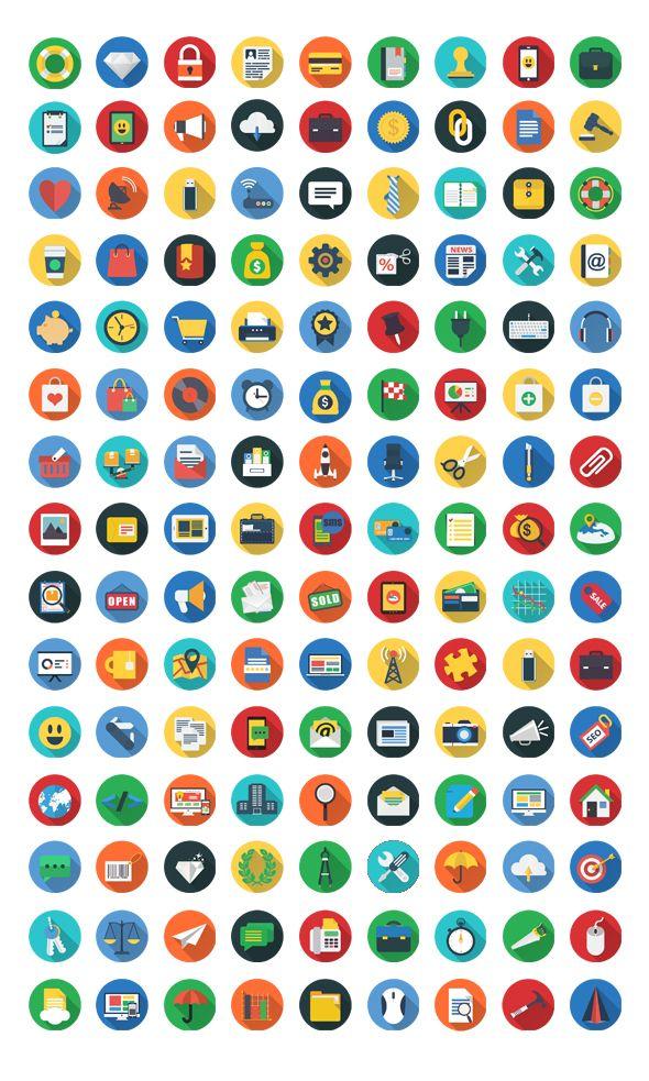 200+ Flat Icons Set FlatIcon by Cursor Creative House