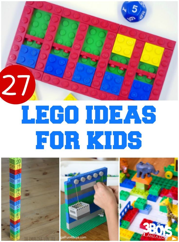 """27 Lego Ideas for Kids -   Ask any child what they love to play with. At least half of them are going to say """"LEGOS!"""" In our family, the LEGO box is what my kids fight over the most. They love the challenge of coming up with a design and trying to build"""
