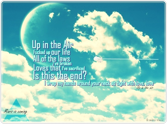 Up in the air #MARSart Thank you @THIRTY SECONDS TO MARS for sharing my pic on facebook!