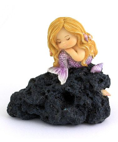 Love this Hand-Painted Little Mermaid In Thought Garden Figurine on #zulily! #zulilyfinds