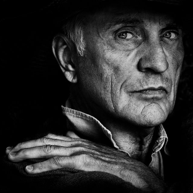 """Terence Stamp by Betina La Plante, """"As a boy I believed I could make myself invisible. I'm not sure that I ever could, but I certainly had the ability to pass unnoticed."""""""