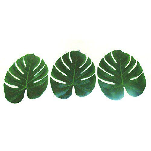 Tinksky Feuilles de palmiers tropicaux 12pcs pour fournitures de décoration Party Luau hawaïen et faveurs (grande taille)