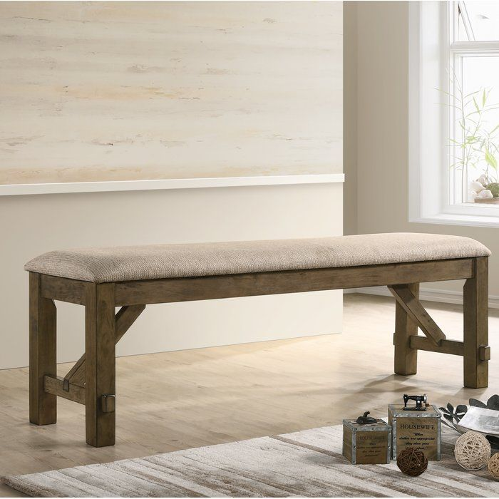 Poe Upholstered Bench With Images Upholstered Bench Wood