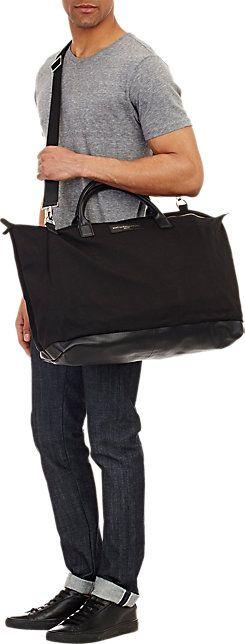 Want Les Essentials Hartsfield Weekender Bag | black cotton canvas w/ black leather trim