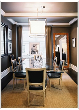 Photo Album For Website  Brilliant Masculine Dining Room Designs Brilliant Masculine Dining Room Designs With Brown Window Curtain And Glass Chandelier And Dining Table And