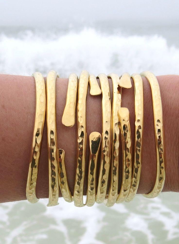 ALL DAY EVERYDAY BEACH JEWELS // GYPSEA Brass Bangle Cuffs  bellabeachjewels.com <---