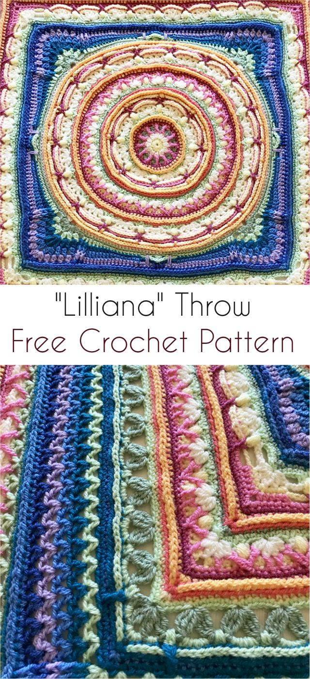 """Lilliana"" Throw - Free Crochet Pattern #crochet #freepattern #motif"