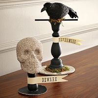 another way to use birds & candle holders: Halloween Decor, Decoration, Fall Halloween, Holidays, Photo, West Elm, Halloween Party, Halloween Ideas, Halloween Icons