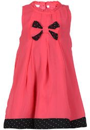 Dressed in this pretty, pink dress from Nauti Nati, your little doll will look even more adorable! Featuring a cute bow on the front, this dress will make a great choice for those birthday parties and family get togethers. Made from polyester chiffon, this dress is truly worthwhile.