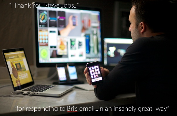 for an amazing email you acted on #Stevejobs http://www.facebook.com/IThankYouSteveJobs