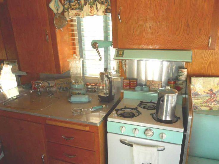 1962 Shasta Trailer Vintage Kitchen Accessories In Aqua Restoring My Shasta Pinterest